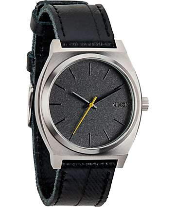 Nixon Time Teller Black Tape Analog Watch