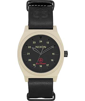 Nixon Time Teller Bone, Black & Taka Watch