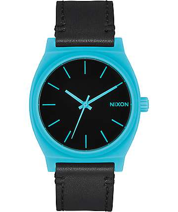 Nixon Time Teller Cyan & Black Analog Watch