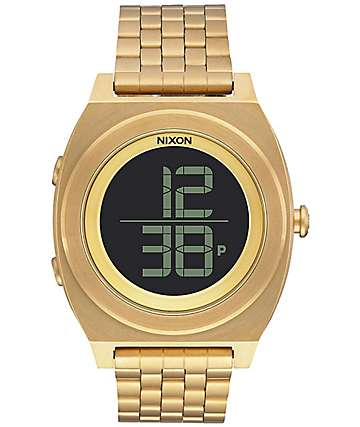 Nixon Time Teller Digi All Gold Digital Watch