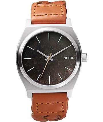 Nixon Time Teller Leather Analog Watch
