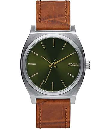 Nixon Time Teller Leather Analog Watch