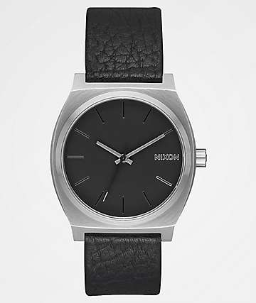 Nixon Time Teller Leather Black, Gunmetal & Black Watch
