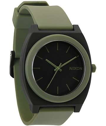 Nixon Time Teller P Matte Black & Surplus Green Analog Watch