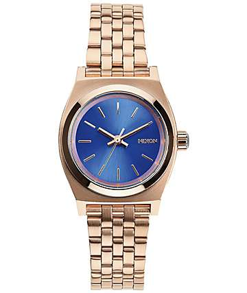 Nixon Time Teller Small Gold & Cobalt Analog Watch