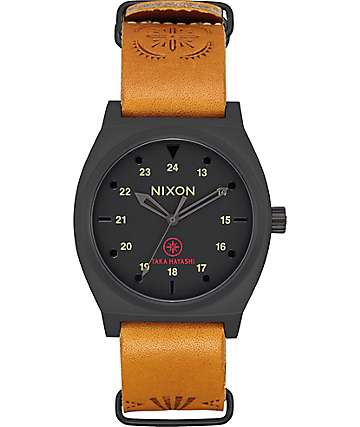Nixon Time Teller Taka Black, Tan & Taka Watch