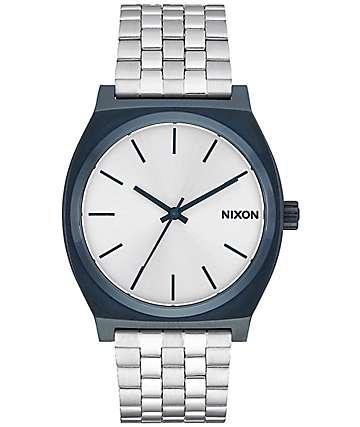 Nixon Time Teller reloj análogo en azul marino y plata