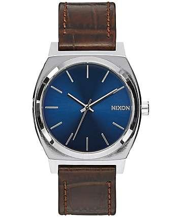 Nixon Time Teller reloj analógico en marrón  y azul