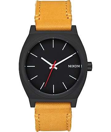 Nixon Time Teller reloj analógico en negro y color oro