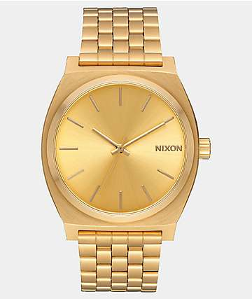 Nixon Time Teller reloj analógico todo oro