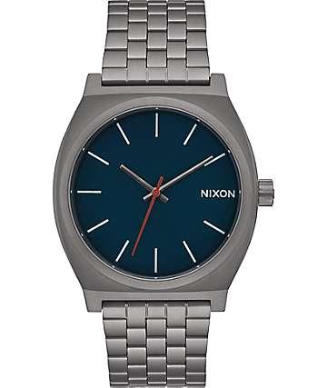 Nixon Time Teller reloj en azul marino y gunmetal