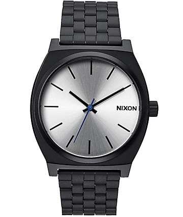 Nixon Time Teller reloj en colores negro y plata
