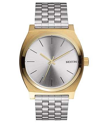 Nixon Time Teller reloj en colores plata y oro