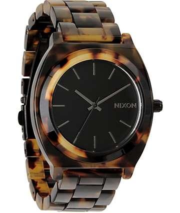 Nixon Timer Teller Acetate Tortoise Analog Watch
