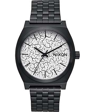 Nixon Timeteller Black Crackle Watch