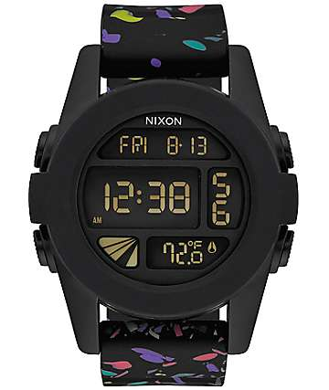 Nixon Unit Black Multi Speckle Digital Watch