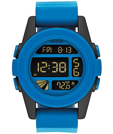 Nixon Unit Blue Fade Digital Watch
