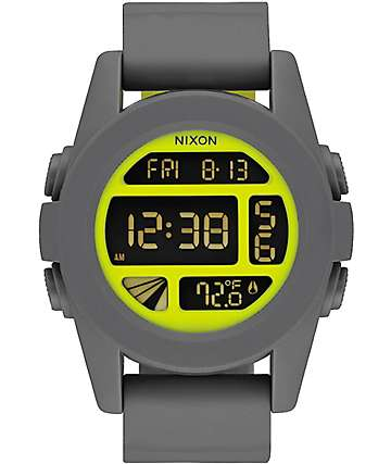 Nixon Unit Charcoal Digital Watch
