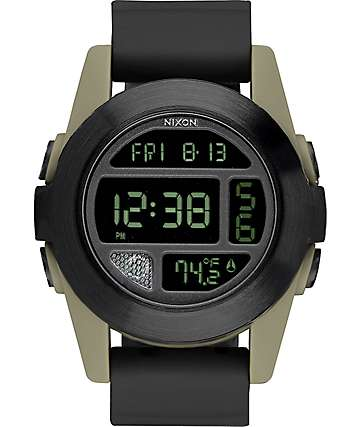 Nixon Unit EXP Black & Sand Digital Watch