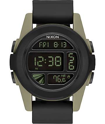 Nixon Unit reloj digital en negro y color arena