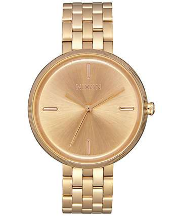 Nixon Vix All Gold Analog Watch
