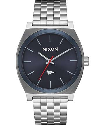 Nixon x Primitive Time Teller Silver & Blue Watch