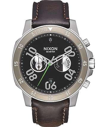 Nixon x Star Wars Ranger Chronograph Jedi Black Leather Watch