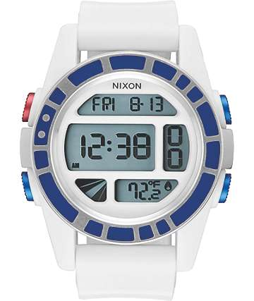 Nixon x Star Wars Unit R2-D2 White Digital Watch