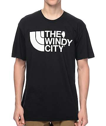 No Coast Clothing The Windy City Black T-Shirt