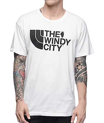 No Coast The Windy City White T-Shirt