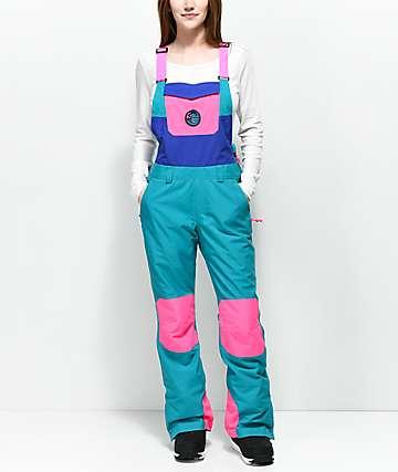 O'Neill 88' Shred Neon Pink 10K Snowboard Bib Pants