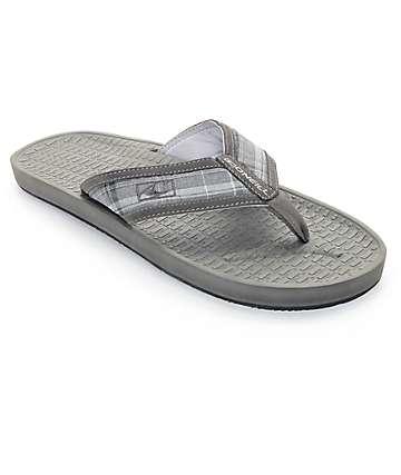 O'Neill Koosh Patterns 2 Grey & Plaid Sandals