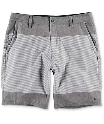 O'Neill Townes Hybrid Charcoal Striped Board Shorts