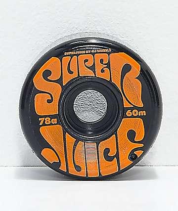OJ Super Juice 60mm 78a Black Cruiser Skateboard Wheels