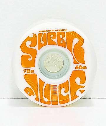 OJ Super Juice 60mm 78a White Cruiser Skateboard Wheels