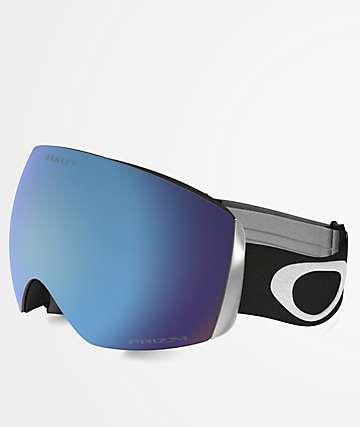 Oakley Flight Deck Black & PRIZM Sapphire Iridium Snowboard Goggles