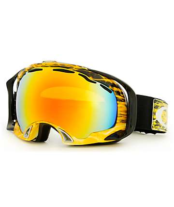 Oakley Splice Amp'd Orange & Fire Iridium Snowboard Goggle
