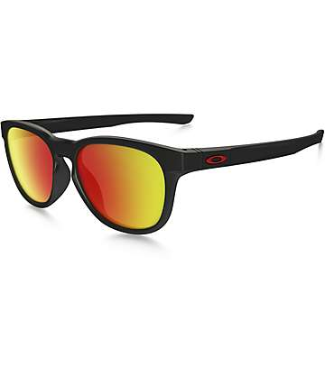 Oakley Stringer Matte Black & Ruby Iridium Sunglasses