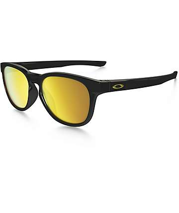 Oakley Stringer Polished Black & 24K Iridium Sunglasses