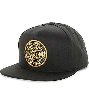 Obey 89 Company Black Snapback Hat