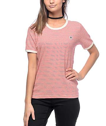 Obey 89 Red Stripe Ringer T-Shirt
