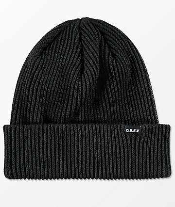 Obey Acacia Black Beanie