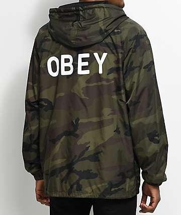 Obey Afton chaqueta entrenador camuflada