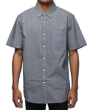 Obey Alder Navy Short Sleeve Button Up Shirt