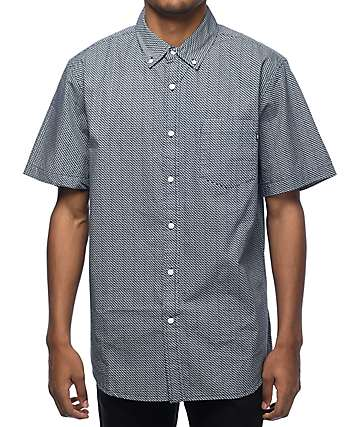Obey Alder Navy Woven Button Up Shirt