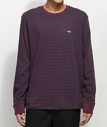 Obey Apex Purple & Black Long Sleeve Knit Shirt