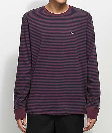 Obey Apex camiseta de manga larga en morado y negro