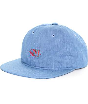 Obey Atlanta Denim Strapback Hat