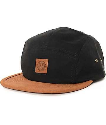 Obey Bayside Black 5 Panel Hat
