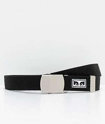 Obey Big Boy cinturón tejido en negro